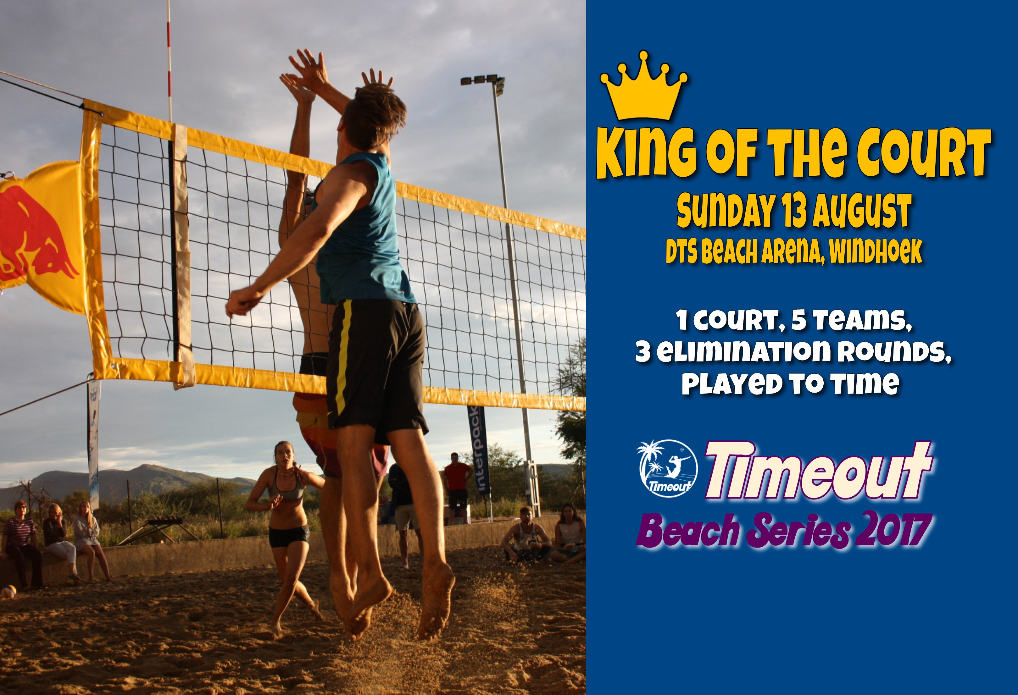 Timeout Series Profile Picture with sponsors King of the Court 2017