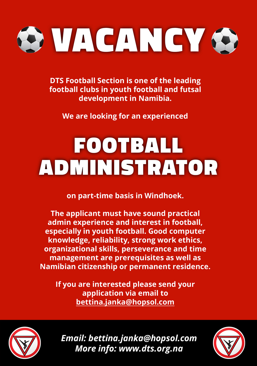 Vacancy Football Administrator